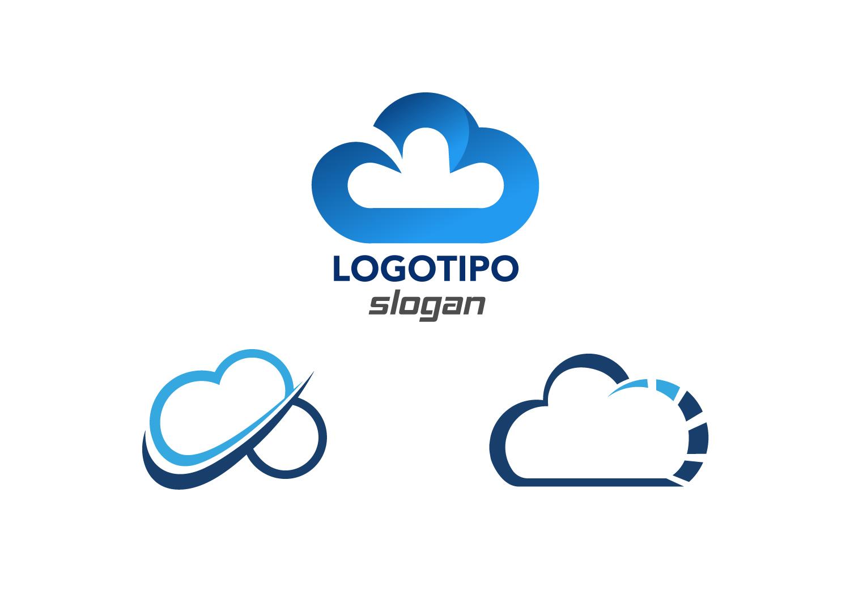 logotipos de nube copias stock