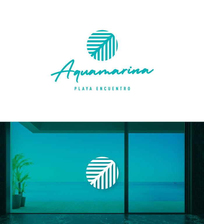 diseño logo aqua