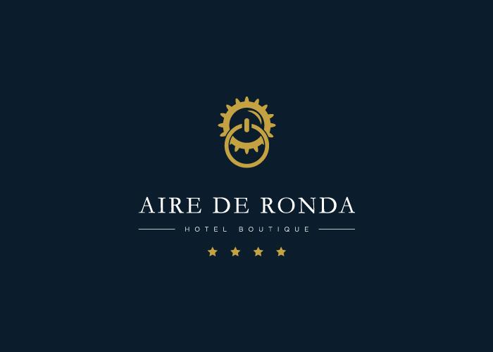 diseño logo argolla puerta pra hotel