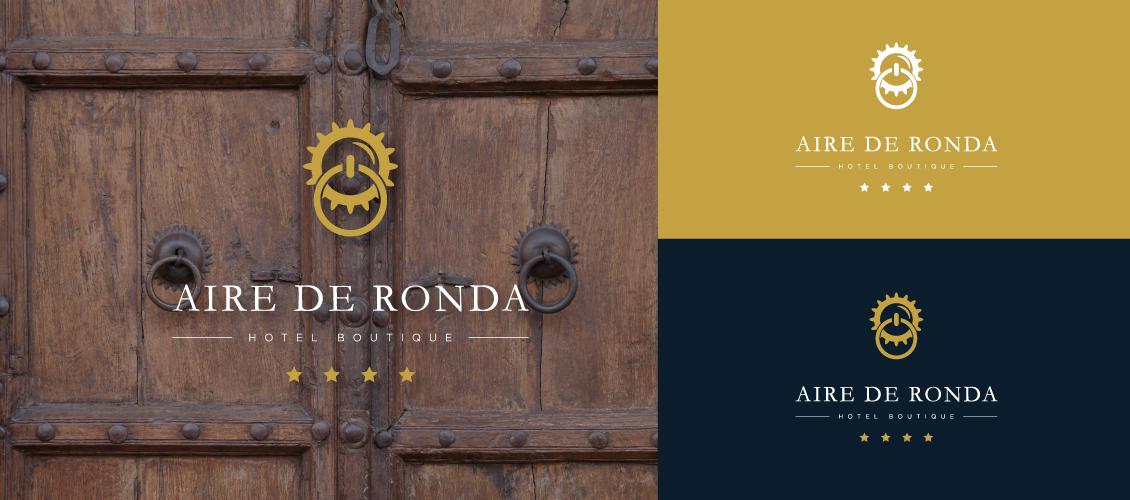diseño de logo puerta de hotel