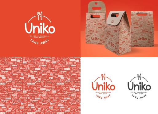 diseño logo y packaging take away