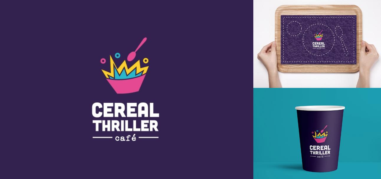 diseño logo cafetería de cereales