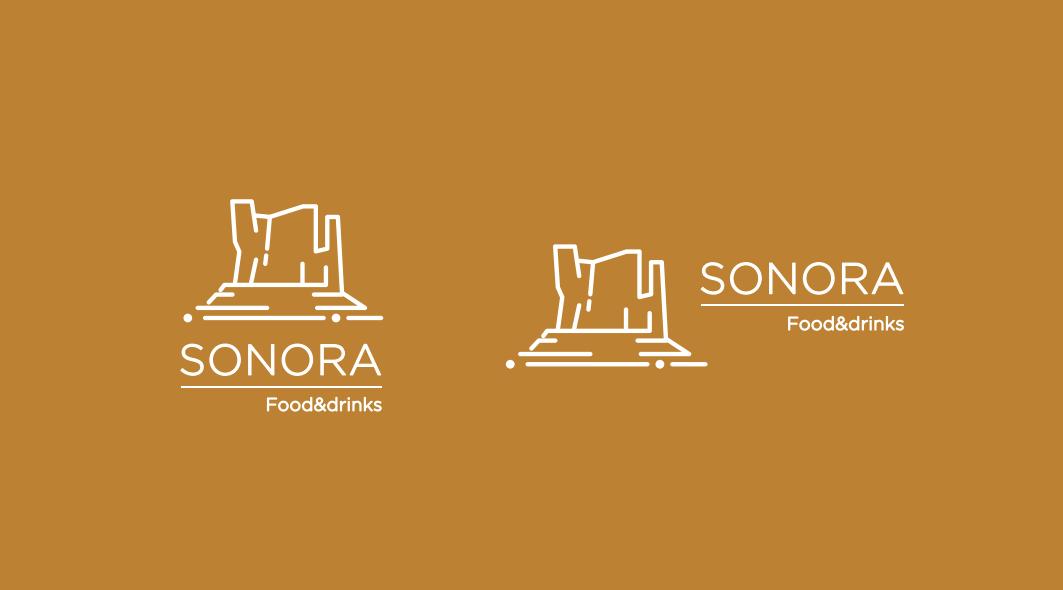 diseño logo restaurante desierto de sonora