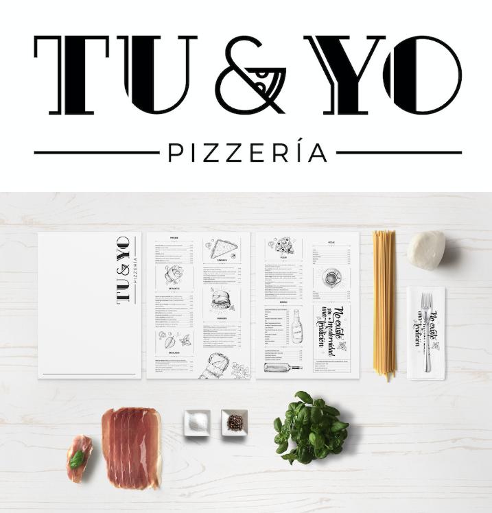 Diseño de logo Pizza & Bar