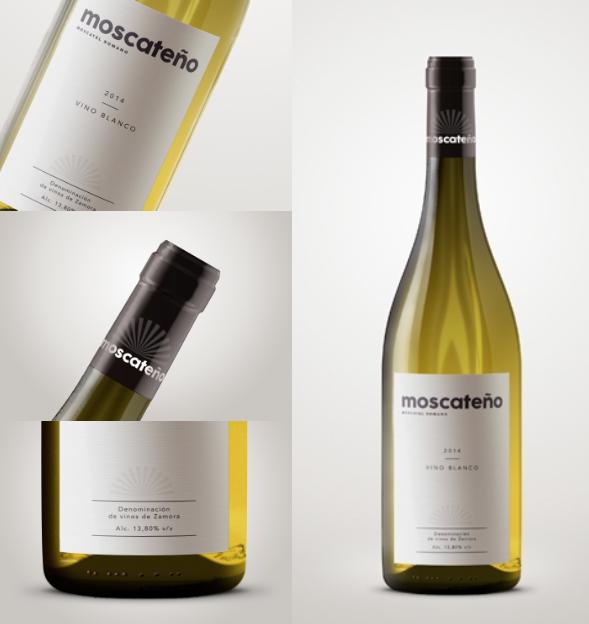 Diseño de marca vino moscatel