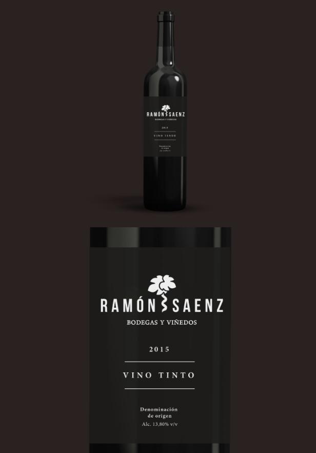 Diseño de logo y botella vino la rioja