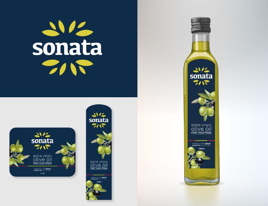 Diseño logo y packanging aceite de oliva