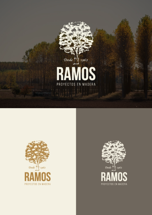 Diseño logo proyectos madera