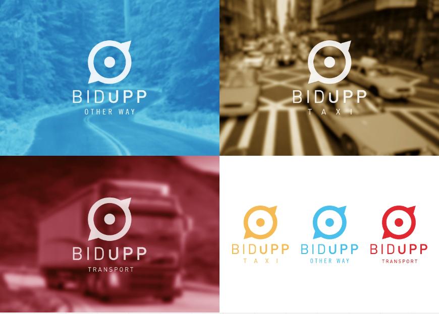Diseño logo app taxis y transportes