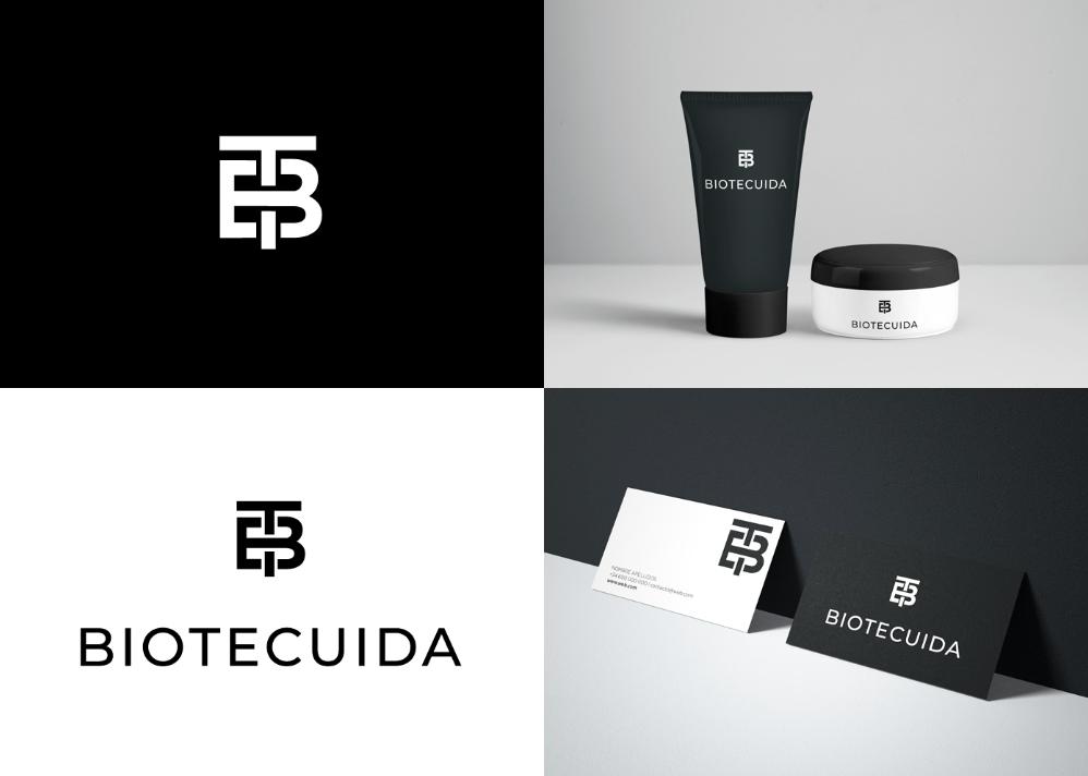 diseño marca cosmética letra T y B