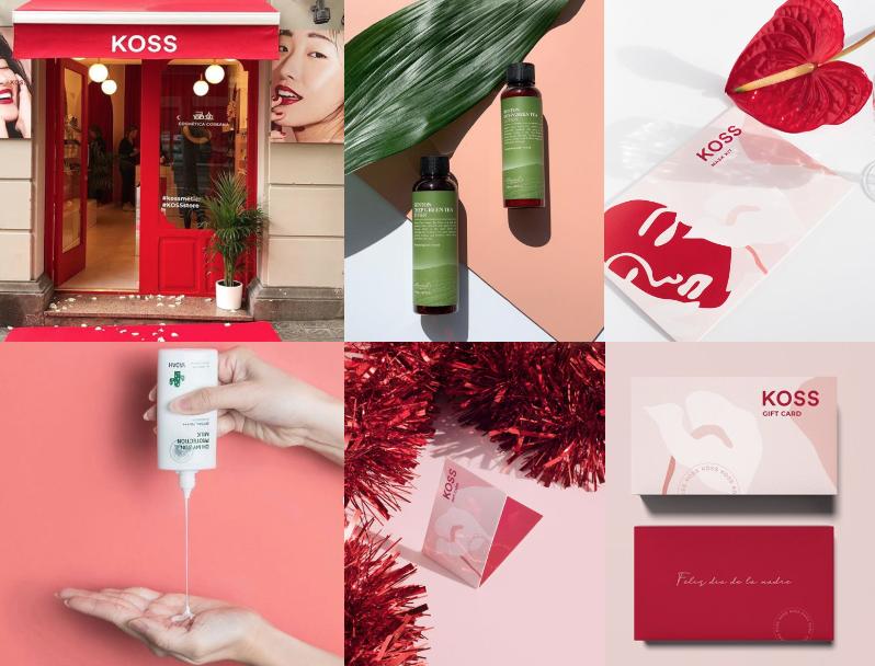diseño de universo de marca cosmética Koreana