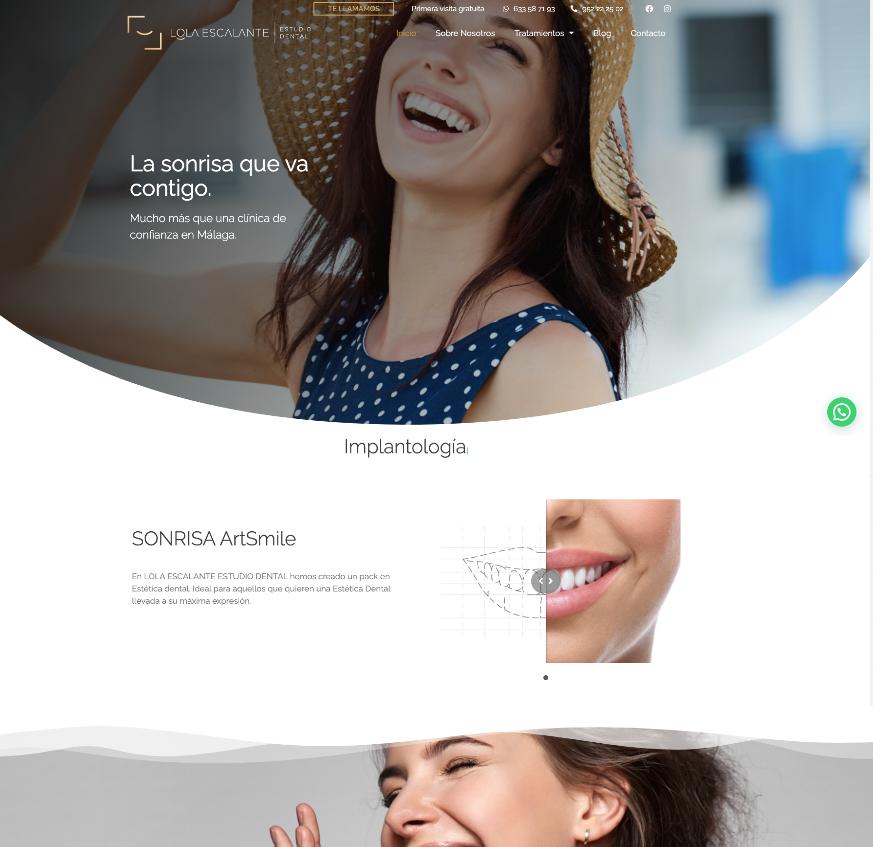 diseño web clínica dental elegante