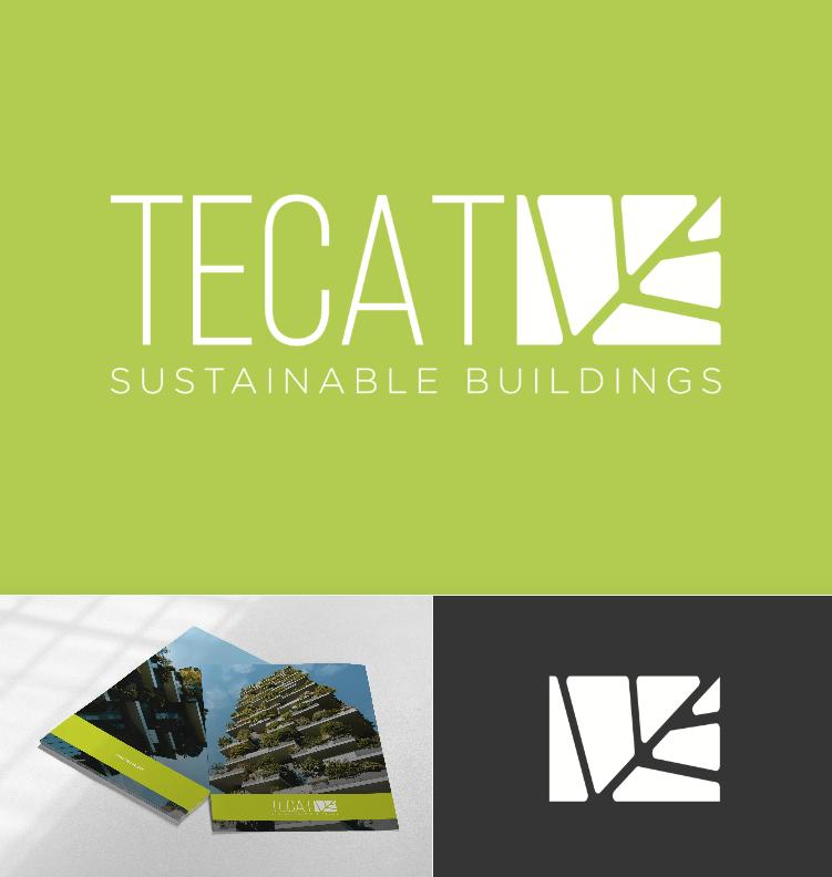 Diseño logo edificios sostenibles