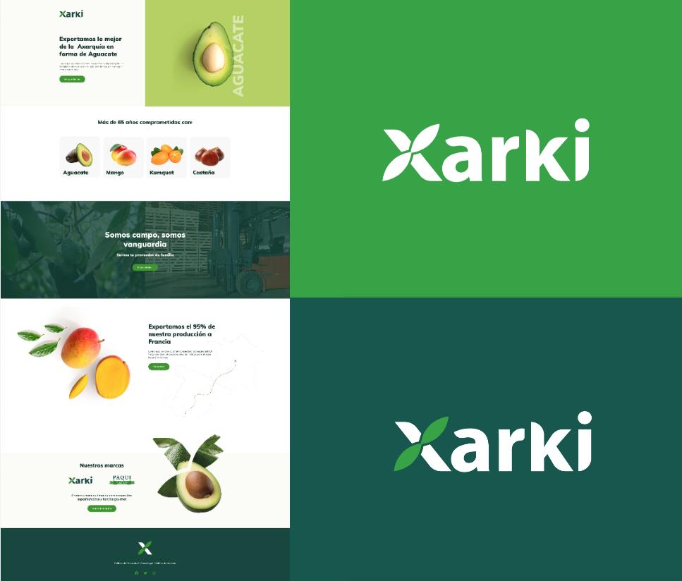diseño logo y web agricultura de aguacates y mango