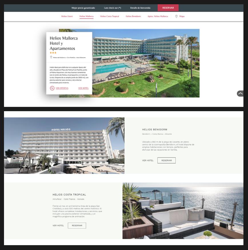 como diseñar ña web de un hotel