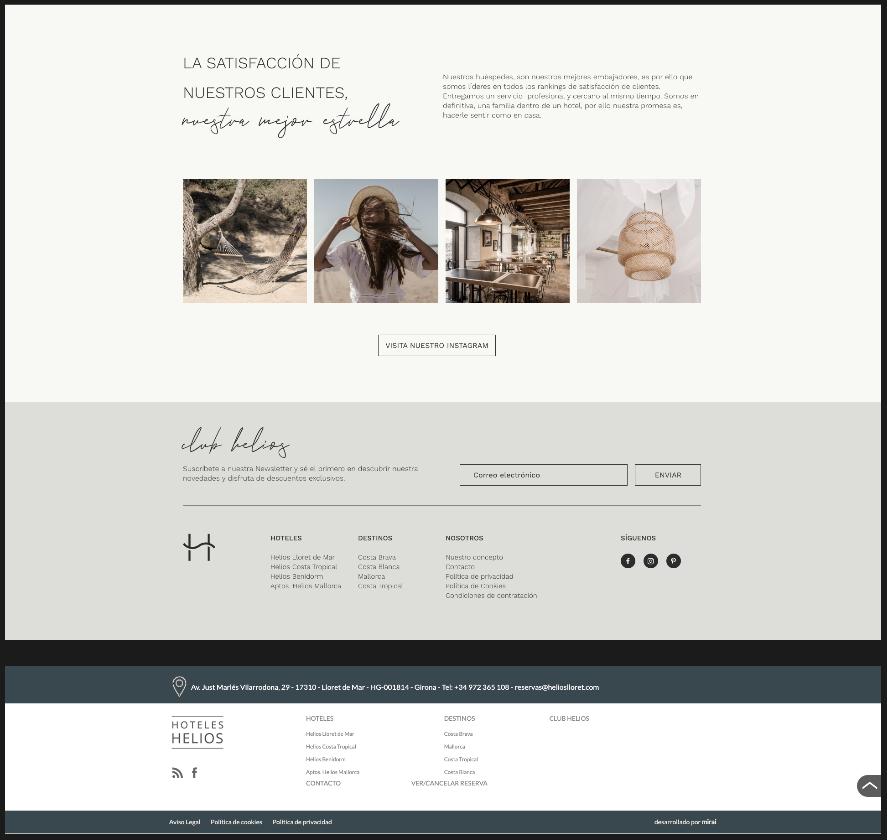 diseño de footer web