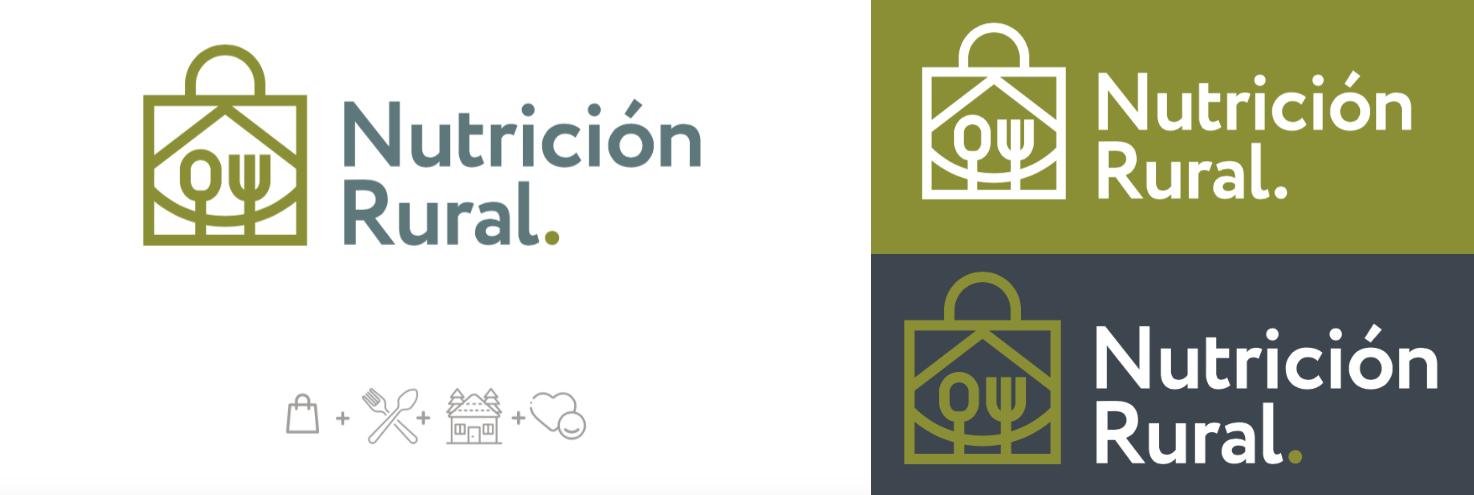 Diseño logo nutrición rural