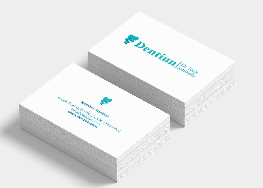 Diseño tarjetas dentales