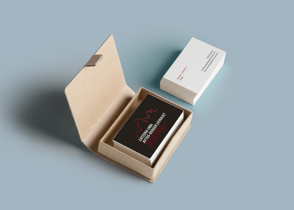 diseño tarjetas cátedra universidad