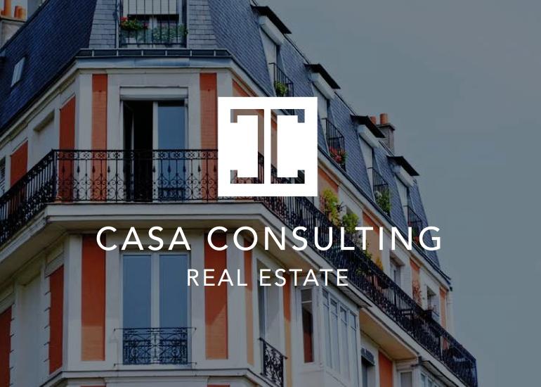 diseño logo real estate doble c