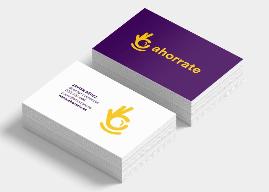 Diseño tarjetas ahorro