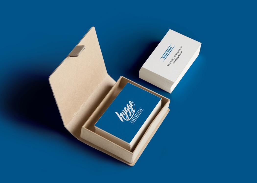 Diseño tarjetas Diseño logo Hygge