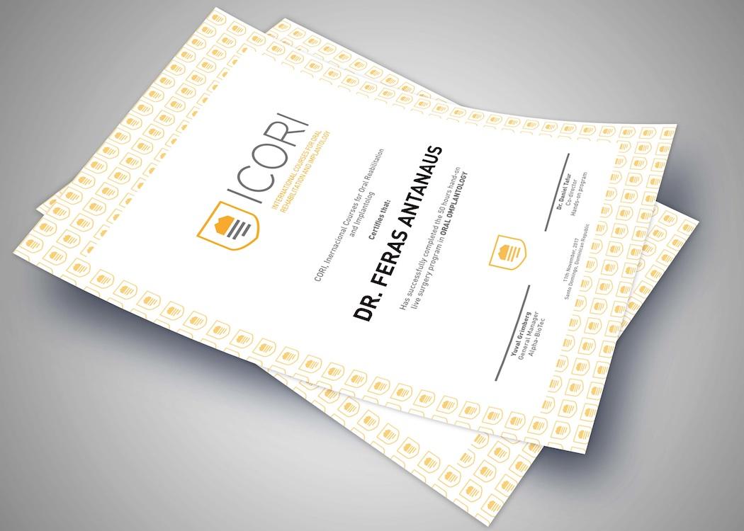 Diseño diploma máster dental