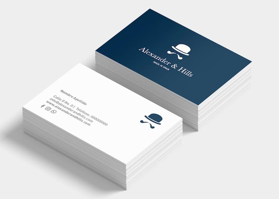 Diseño tarjetas marca de hombres