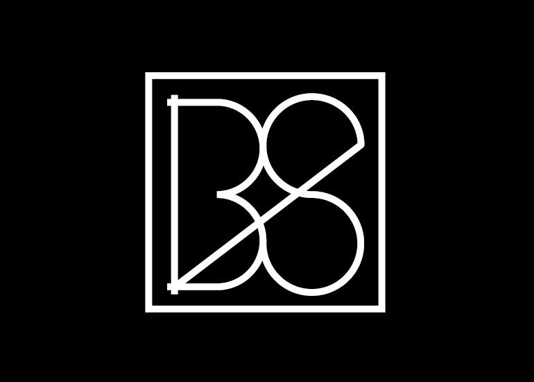 Diseño logo iniciales BS