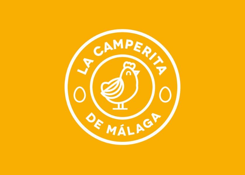 Diseño logo huevos gallinas camperas