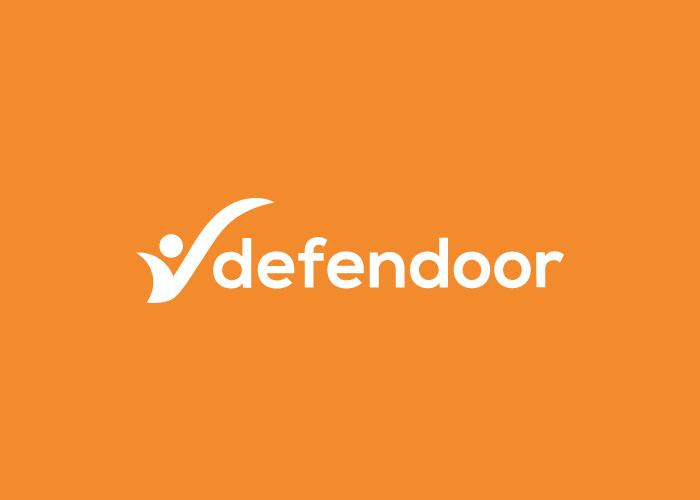 aplicación logo defender en naranja