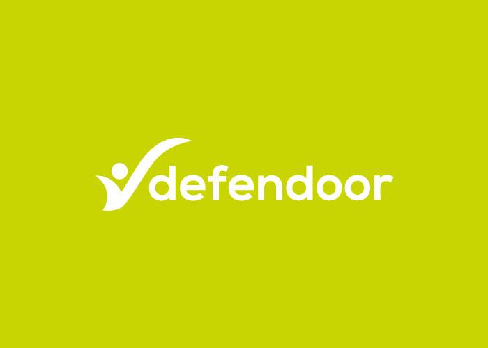 aplicación logo defender en verde