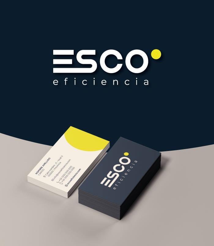 Esco eficiencia energía logotipo