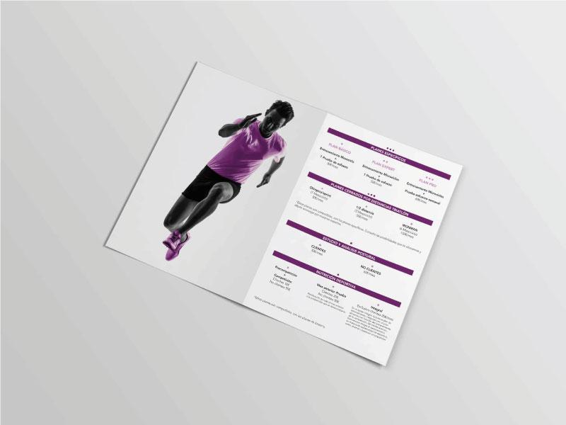 Diseño de flyer para empresa de asesoramiento deportivo