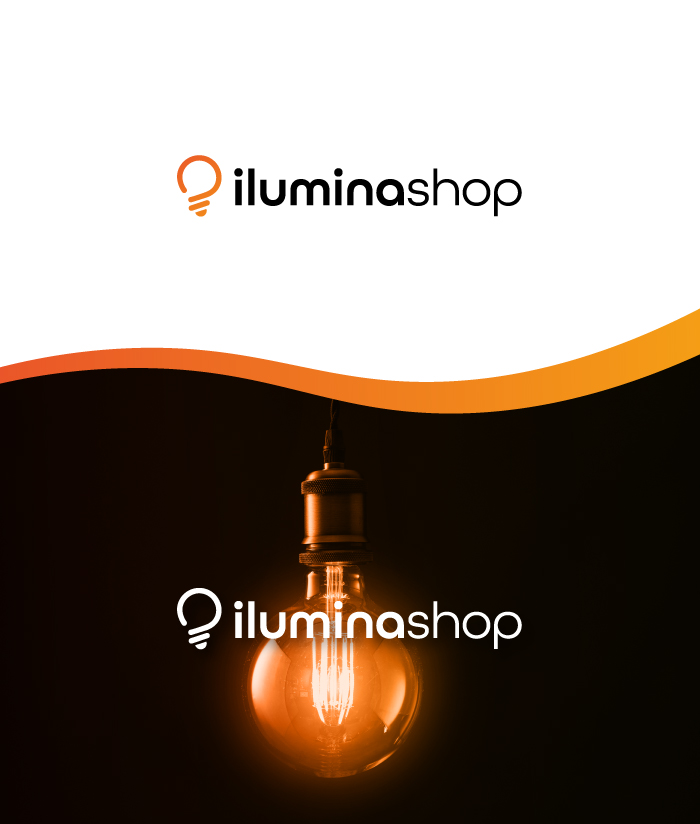 Iluminashop logotipo con bombilla