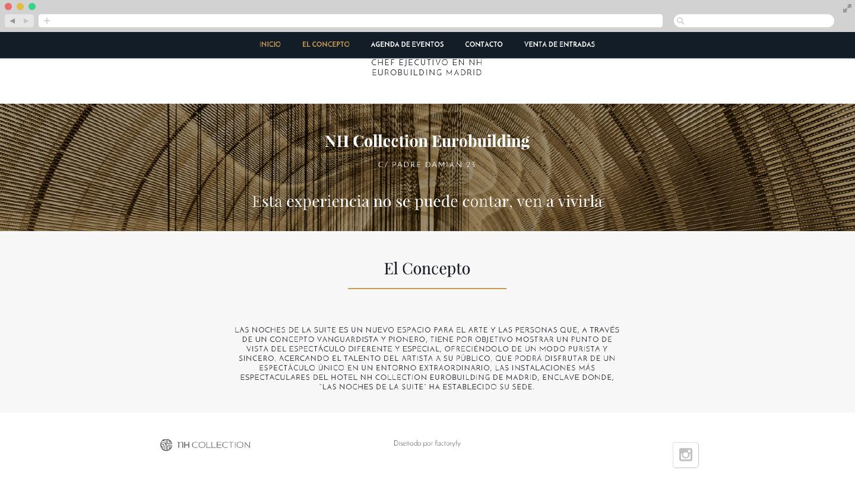 Diseño Web hotel y espectáculos