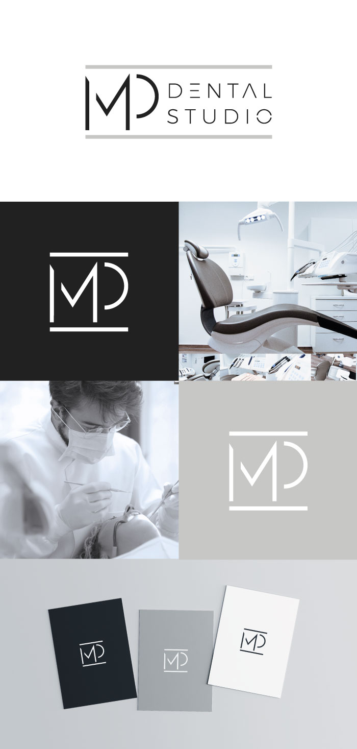MP Dental presentacion logotipo marca