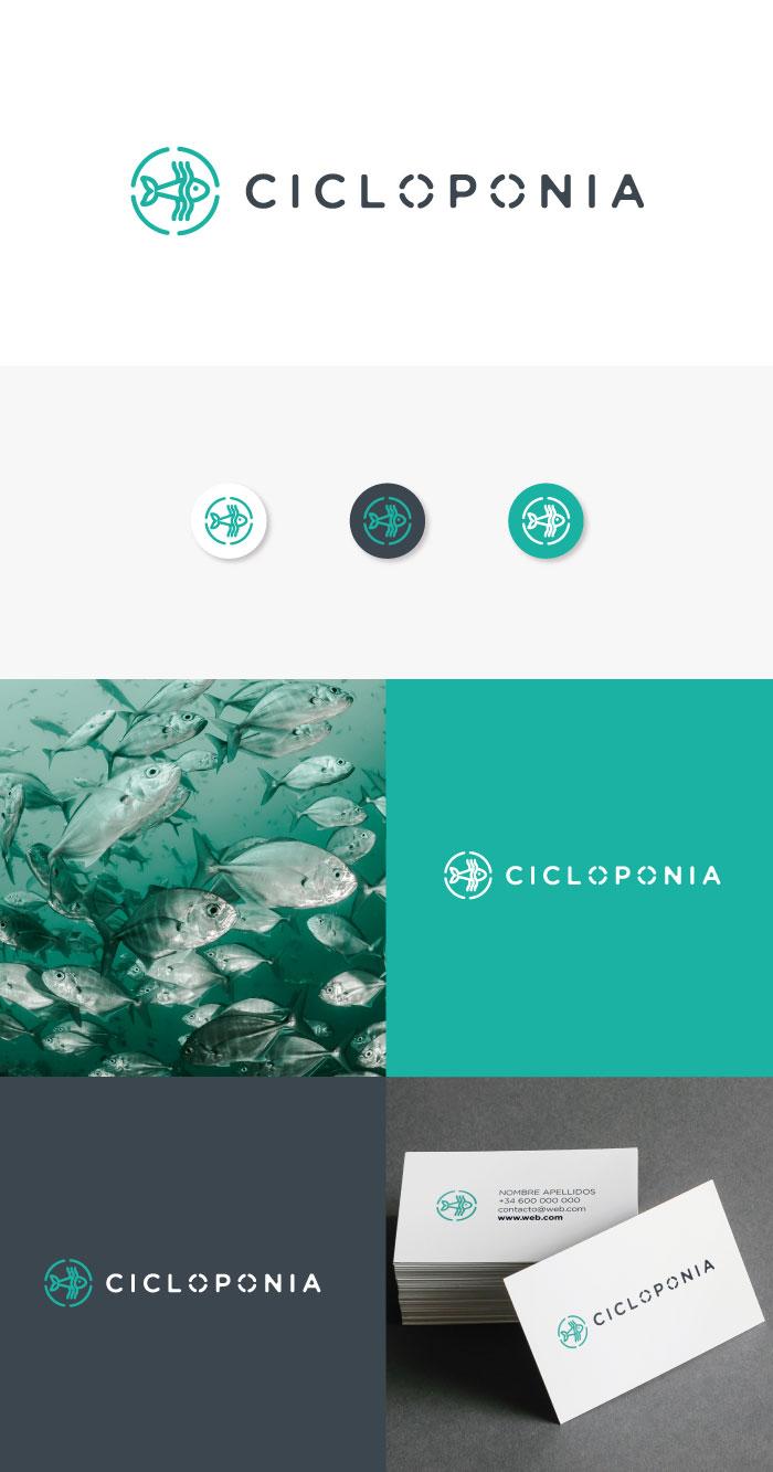 diseño de logo producción sostenible de algas