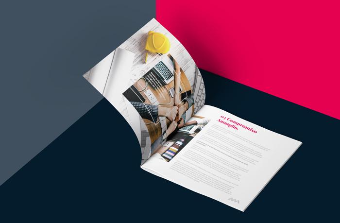 Una página del dossier de este estudio de arquitectura en Madrid