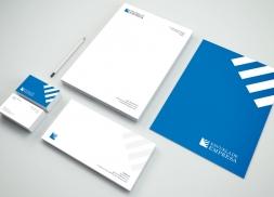 Diseño de identidad corporativa escuela de negocios