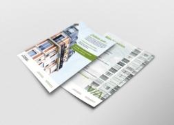 Diseño flyer y díptico Arquitectura Passivhaus