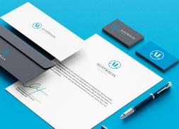 Diseño identidad corporativa despacho abogados australia