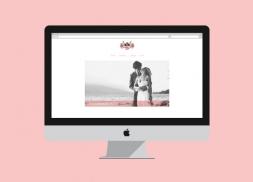 Diseño de blog para fotógrafa de moda y reportaje social