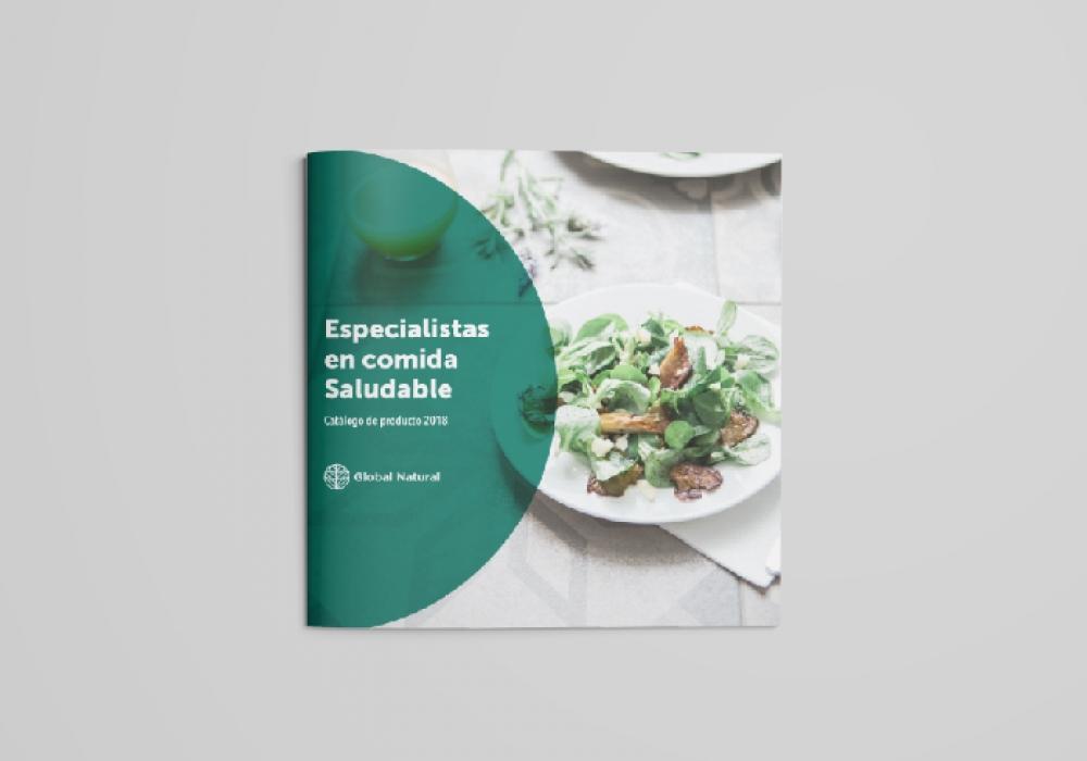 Diseño de catálogo de comida saludable