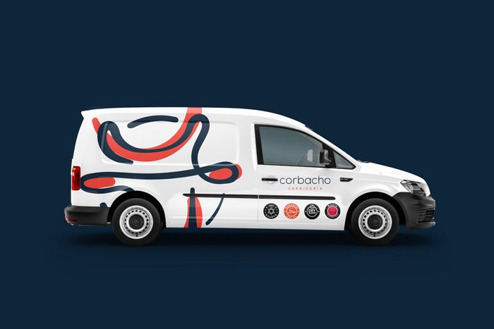 Diseño gráfico furgoneta carnicería