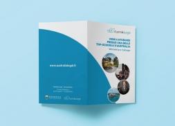 Díptico para asesoría laboral y de estudio en Australia