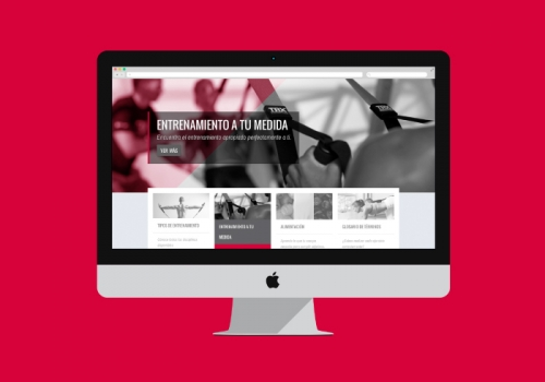 Diseño blog personal trainer