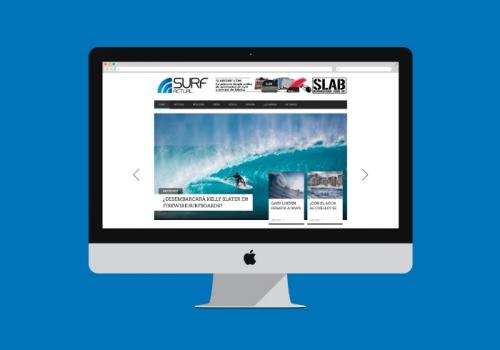 Diseño de blog sobre noticias de Surf