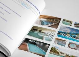Diseño dossier empresa dedicada a los proyectos acuáticos
