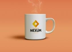 Diseño de tazas personalizadas empresa financiera